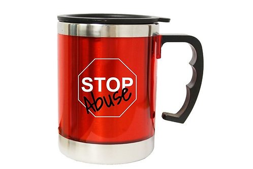 Stop Abuse Desk Mug w/ Stainless Interior