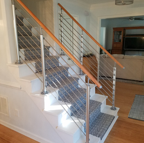 Top Mount Post, Tube Infill, Finished Beech Wood Handrail