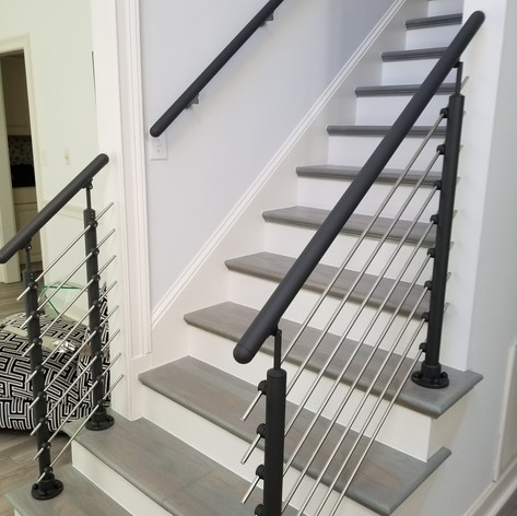 Top Mount Post Tube Infill, Anthracite Handrail