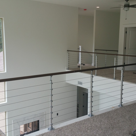 Top Mount, Cable Infill, Unfinished Beech Wood Handrail