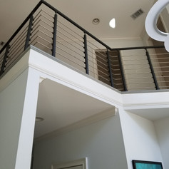 Top Mount Post, Tube Infill, Anthracite Handrail
