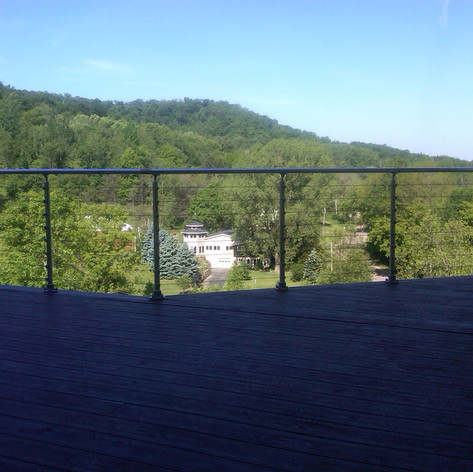 Top Mount Post, Cable Infill, Aluminum Handrail