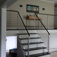 Top Mount Post, Tube Infill, Unfinished Handrail