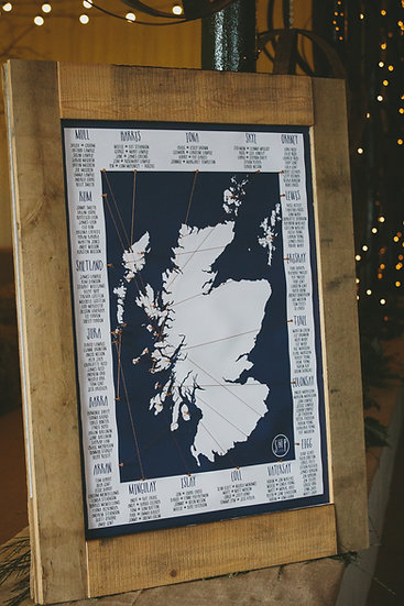 Scottish Islands Table Plan