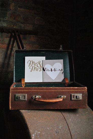 Vintage Suitcase Wedding Cards