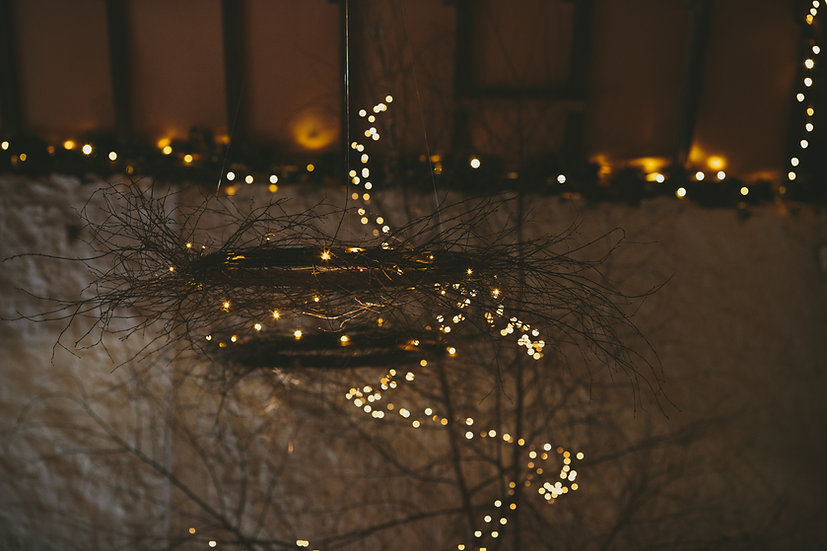 Hanging Birch Decoration with Fairy Lights
