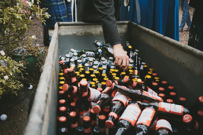 Beers in Metal Trough