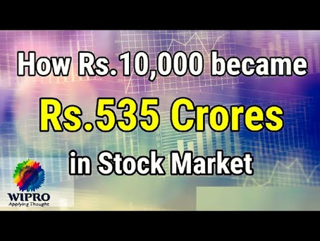 HOW Rs.10,000 BECAME Rs.500 CRORES !!