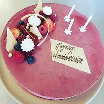gateau anniversaire fruit Auberge Gardoi