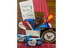 Birthday gift to Mr. Thelen from the students