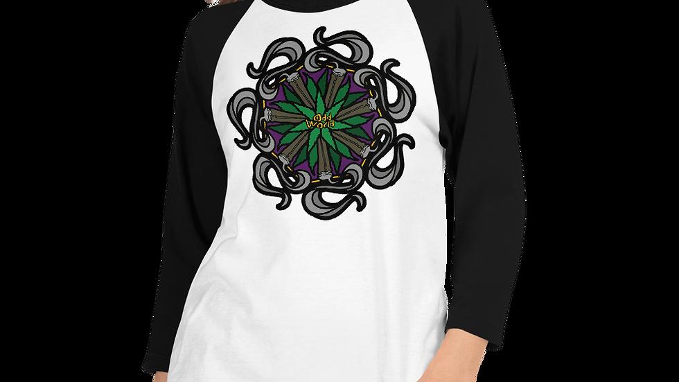 Odd Mandala 3/4 sleeve raglan shirt