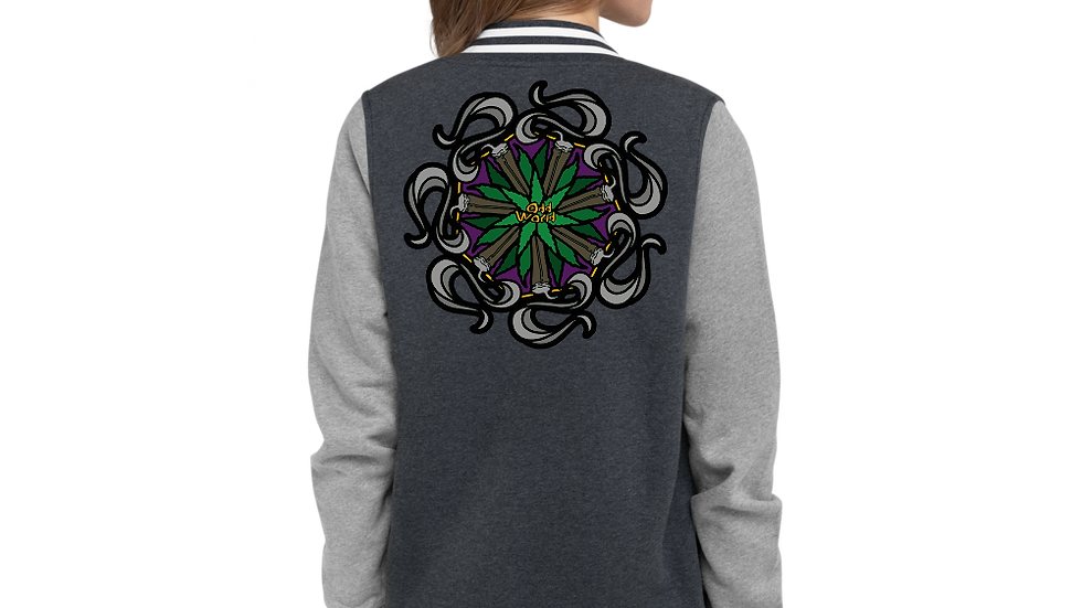 Odd Mandala Women's Letterman Jacket