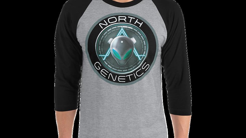 North Genetics Alien 3/4 sleeve raglan shirt