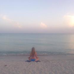 meditation bord de mer