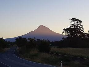 Mt Taranaki in sunset