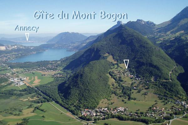 position gite du Mont Bogon