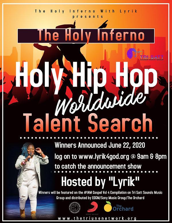 Talent Search flyer (winners announcemen