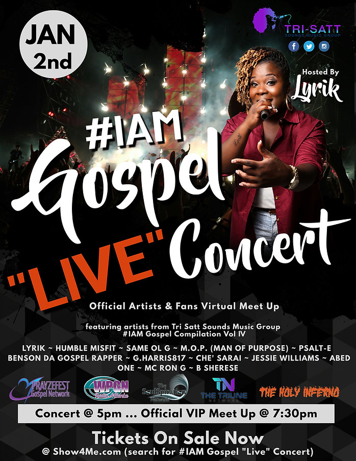TICKETS ON SALE _ IAM Gospel LIVE Concer