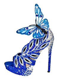 Lux Costume Design Custom Shoe Butterfly