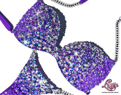 holly clift purple bikini