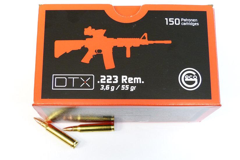 Geco DTX .223 Rem. Taget FMJ 3,6g – 55 grain 600er Karton