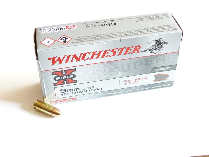 Winchester 9mm Luger  Vollmantel-Rundkopf – 124 grain 1000 Schuß