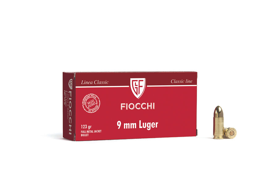 Fiocchi  9mm Luger Vollmantel-Rundkopf – 123 grain 1000 Schuß