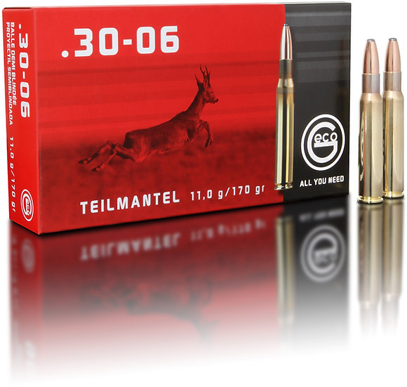 Geco Teilmantel .30-06 Spr.  - 170 grain 20 Schuss