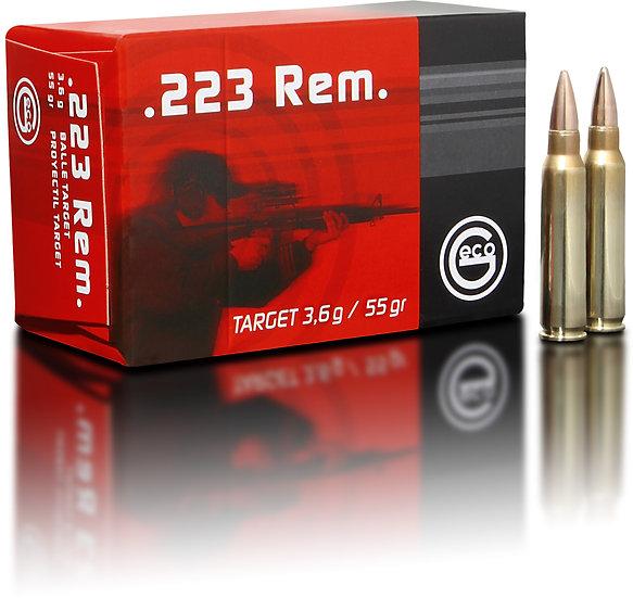 Geco .223 Rem. Taget FMJ 3,6g – 55 grain 1000 Schuss