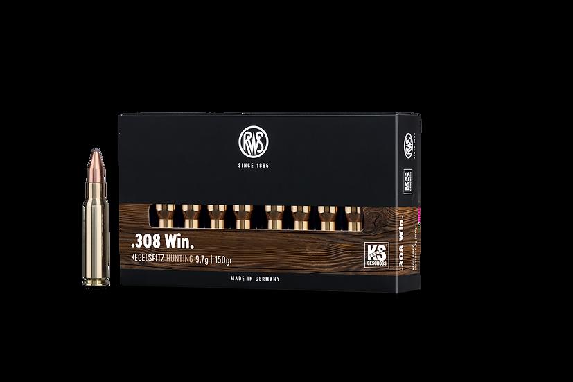RWS Kegelspitz  .308 Win. – 150 grain 20 Schuss