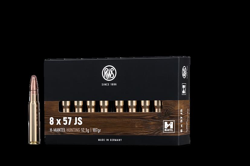 RWS HMK  8x57 IS – 187 grain 20 Schuss