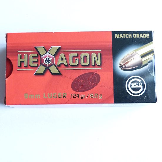 Geco  9mm Luger Hexagon – 124 grain 1000 Schuß