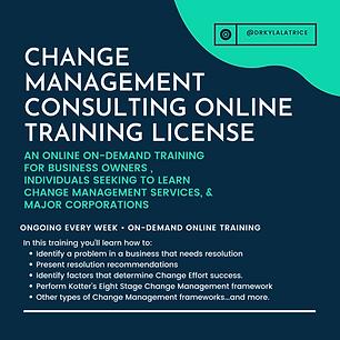 (License Course) Change Management Consu