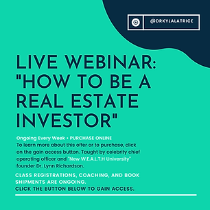 Live-Webinar-How To Be A Real Estate Inv
