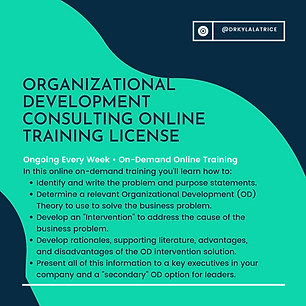 (License Course) Organizational Developm