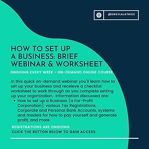 How to Set Up A Business-Brief Webinar &