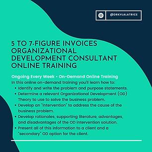 Organizational Development Consultant On