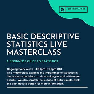 (Masterclass) Basic Descriptive Statisti