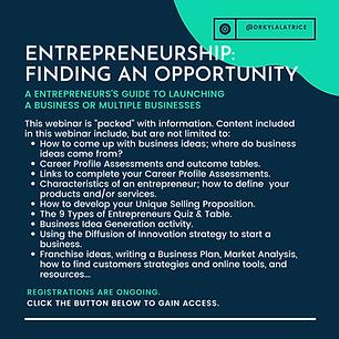 Entrepreneurship-Finding an Opportunity.