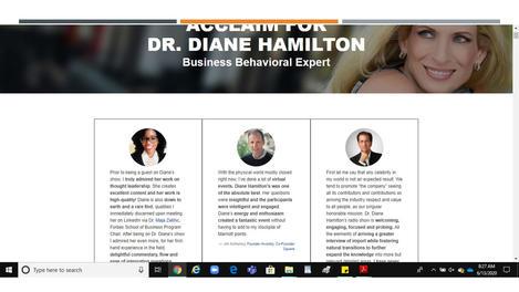 Dr. Kyla Testimony for Dr. Diane Hamilton, Ph.D. (#Forbes)