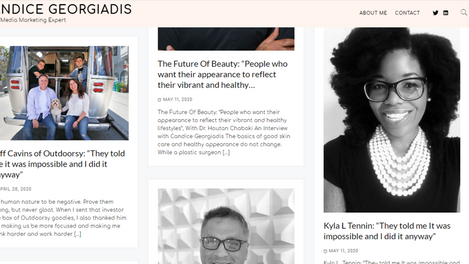 Celebrity Publicist and Journalist Candice Georgiadis Home Page Feature