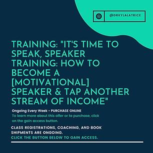 Training-It_s Time To Speak, Speakers Tr