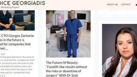 Celebrity Publicist & Journalist Candice Georgiadis Home Page Feature