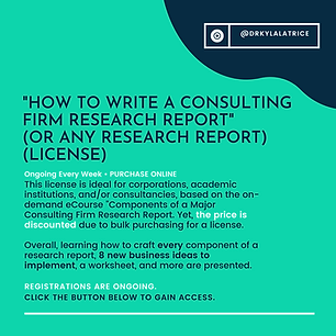 How To Write A Consulting Firm Research