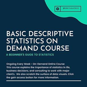 (Course) Basic Descriptive Statistics (M