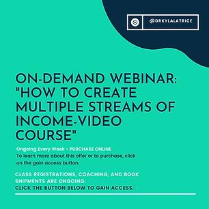 Webinar-How To Create Multiple Streams o