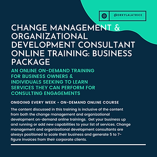 Change Management & Organizational Devel