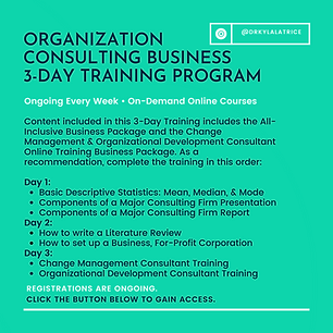 Organizational Consulting Business 3-Day