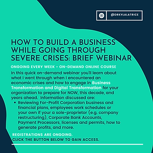 How to Build a Business While Going Thro