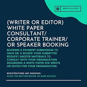White Paper Consultant Speaker or Traine
